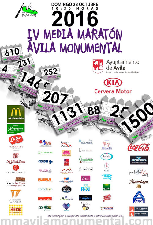 Media Maratón Ávila Monumental 2016